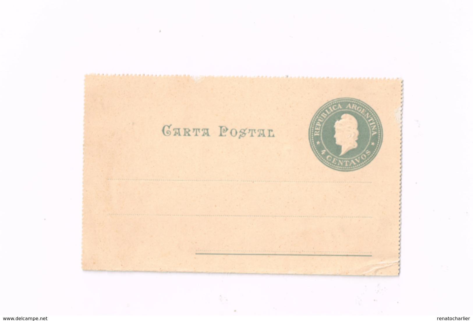 Entier Postal à 4 Centavos. - Postwaardestukken