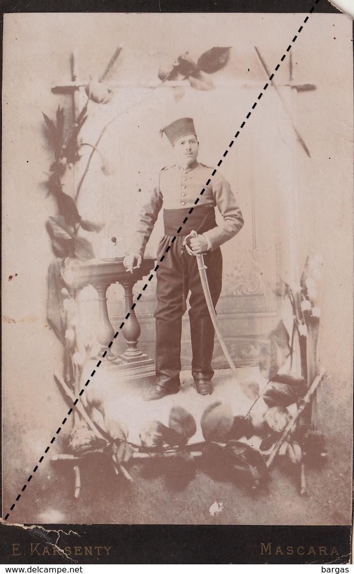 Photo Régiment D'afrique Militaire Par Karsenty à Mascara Algérie - Krieg, Militär