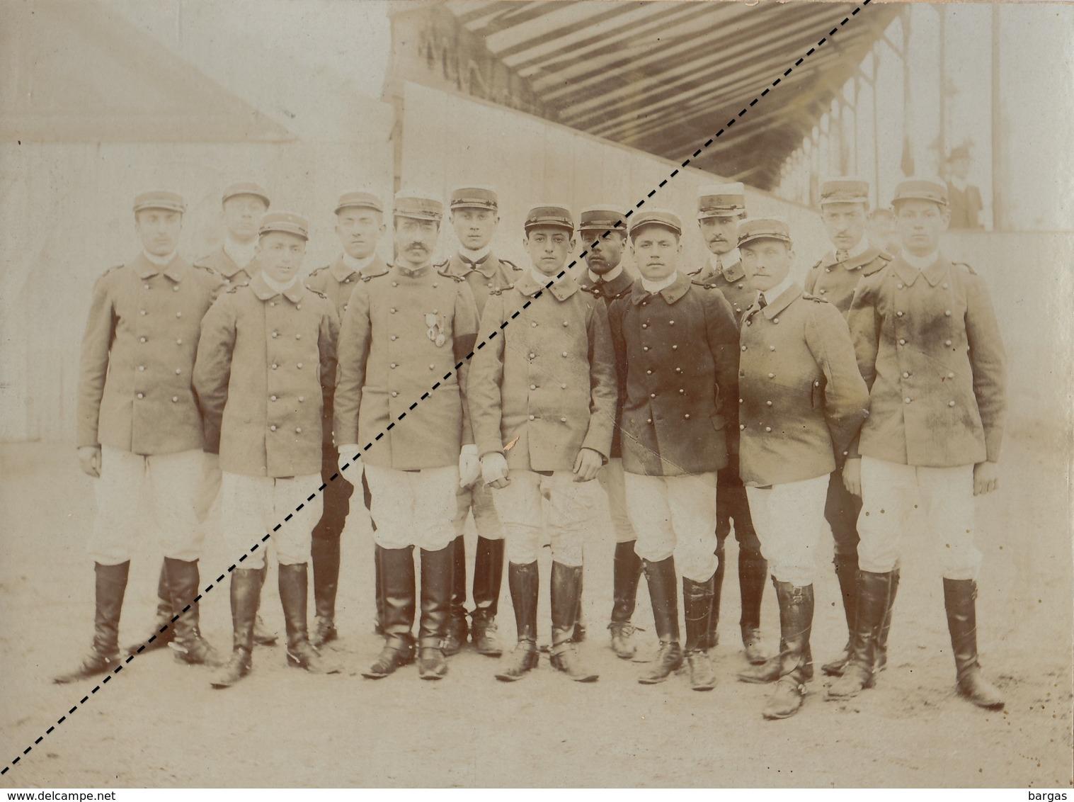 Grande Photo Militaire Concours De Bordeaux équitation 1908 De Lyon - Guerre, Militaire