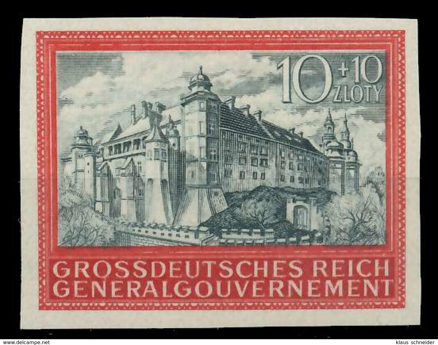 GENERALGOUVERNEMENT 1944 Nr 125U Postfrisch X88FE22 - Besetzungen 1938-45