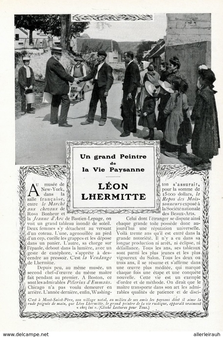 Leon Lhermitte /  Article, Pris D`un Magazine / 1908 - Bücher, Zeitschriften, Comics