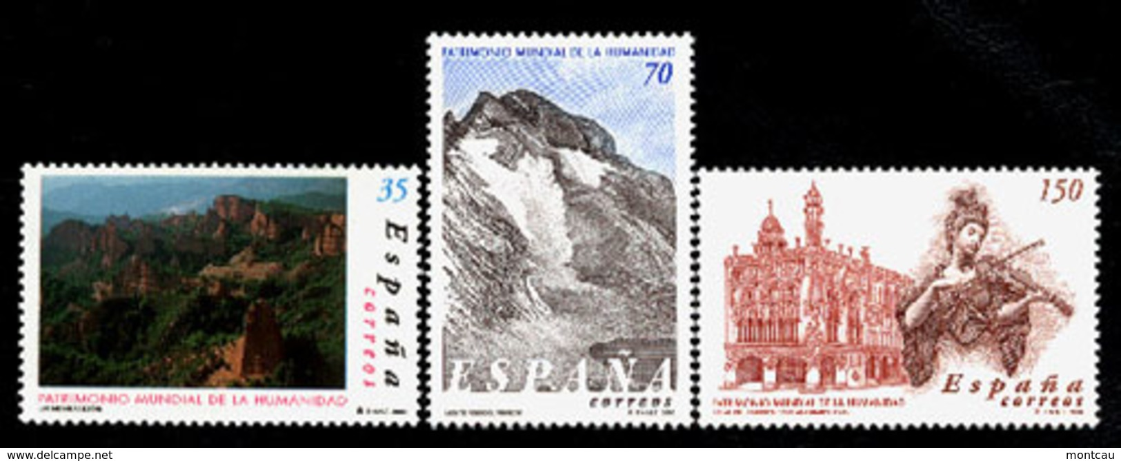 Spain 2000. Patrimonio De La Humanidad Ed 3729-31 (**) - 1931-Hoy: 2ª República - ... Juan Carlos I