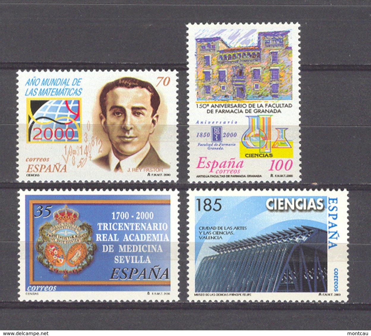 Spain 2000. Ciencias Ed 3708-11 (**) - 1931-Hoy: 2ª República - ... Juan Carlos I