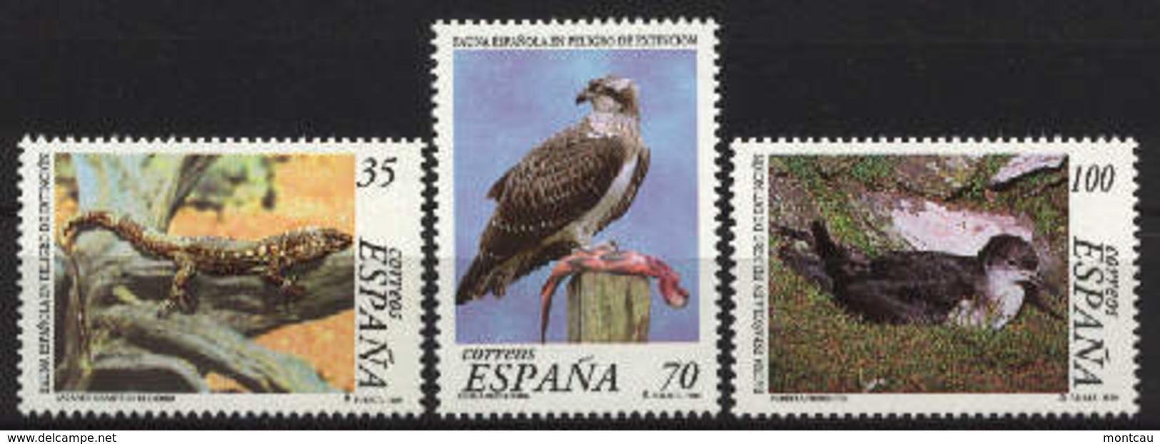 Spain 1999. Fauna En Peligro Ed 3614-16 (**) - 1931-Hoy: 2ª República - ... Juan Carlos I