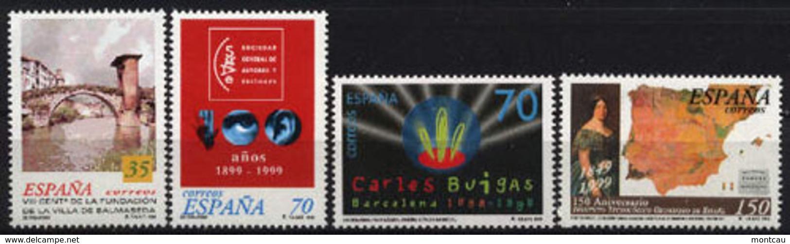 Spain 1999. Centenarios Ed 3651-54 (**) - 1931-Hoy: 2ª República - ... Juan Carlos I
