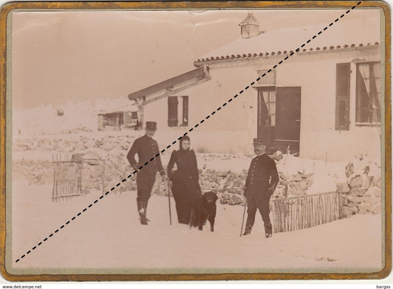Photo Militaire Fort De La Revere Eze Alpes Maritimes 4 Janvier 1895 - Guerre, Militaire
