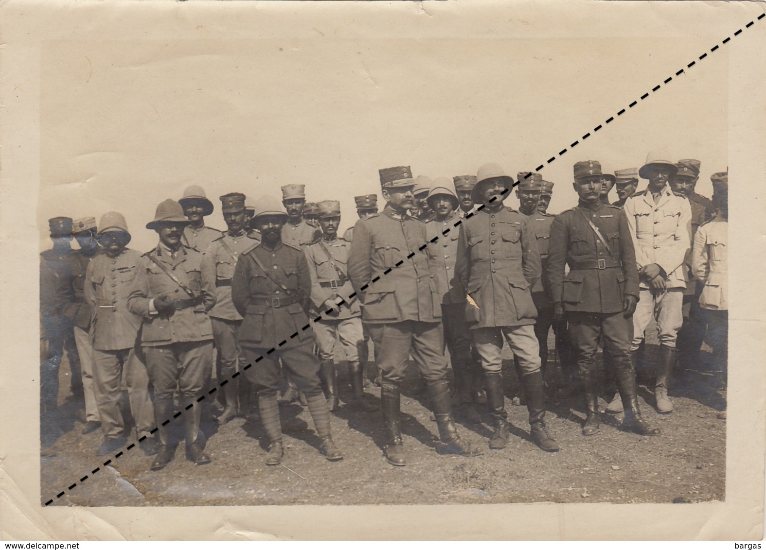 Photo Militaire Grèce Salonique Camp De Toumba Général Mavraganis Colonel Skiros ... - Guerre, Militaire