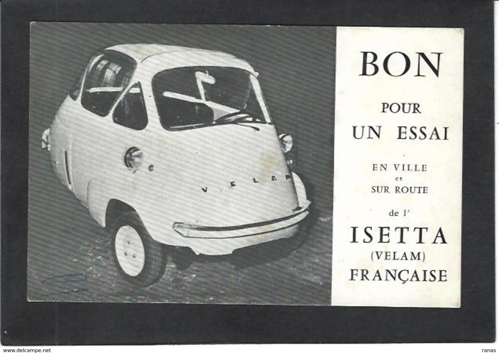 CPSM Voiture Automobile Publicité Publicitaire Réclame Voir Scan Du Dos Isetta Velam Choisy Le Roi - Publicité