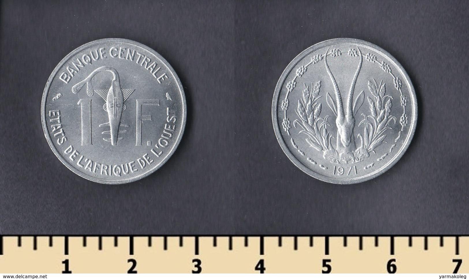 Western Africa (BCEAO) 1 Franc 1971 - Monnaies