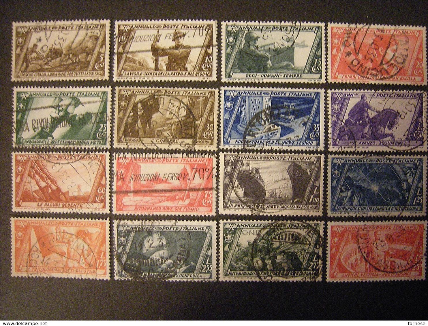 SVENDITA 1932 - DEC. MARCIA SU ROMA , Serie Compl. Usata,  TTB,  OCCASIONE - Usati