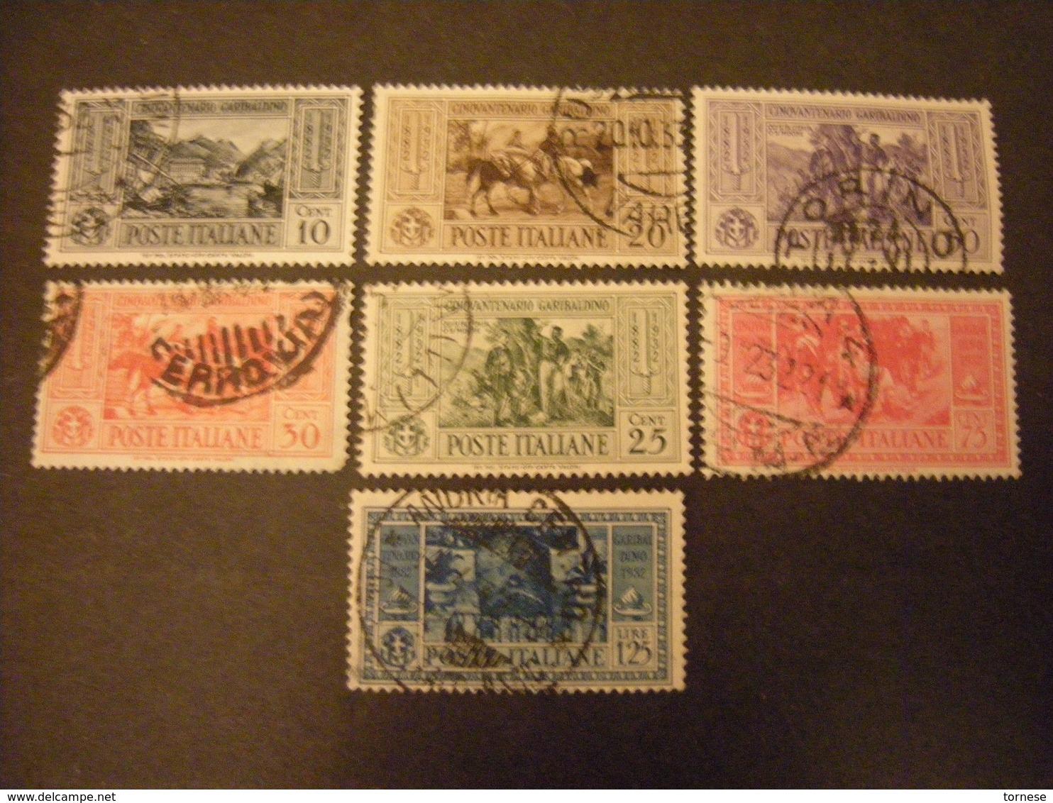 1932 - GARIBALDI ,lotto 7 Val. Usati, TTB. Occasione - Usati