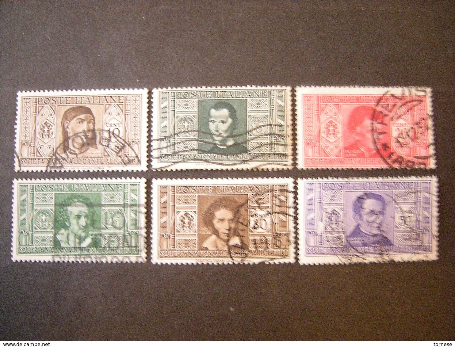 1932 - Alighieri ,lotto 6 Val. Usati, TTB. Occasione - Usati