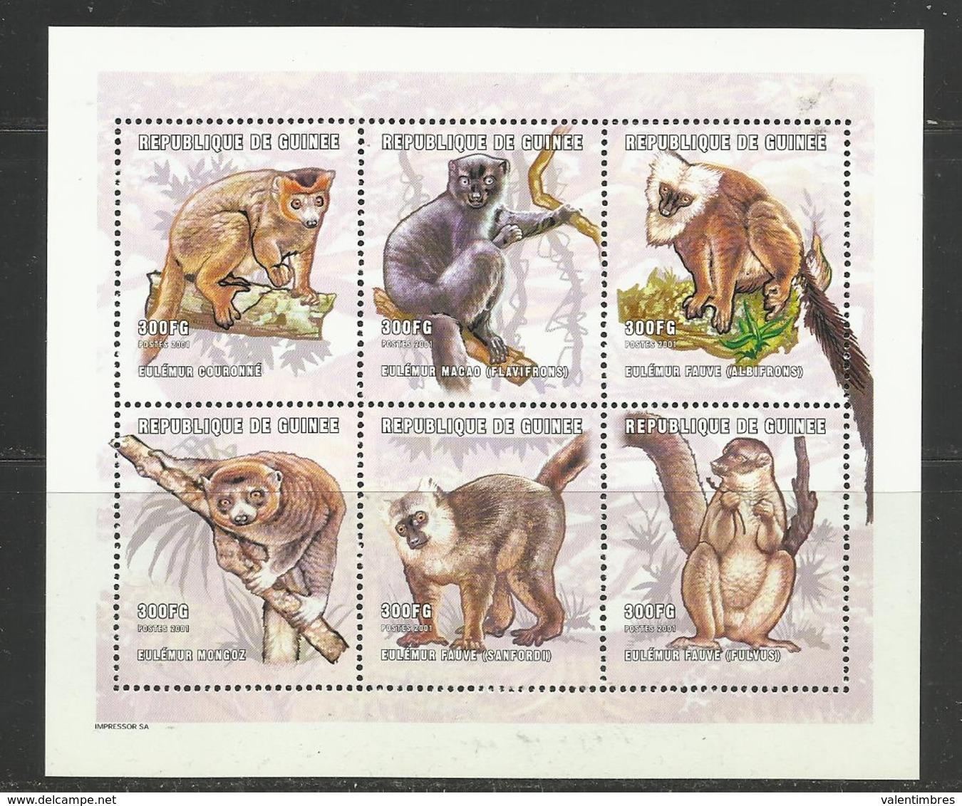 Guinée YT ** 1921/26 LEMURIENS - Postzegels