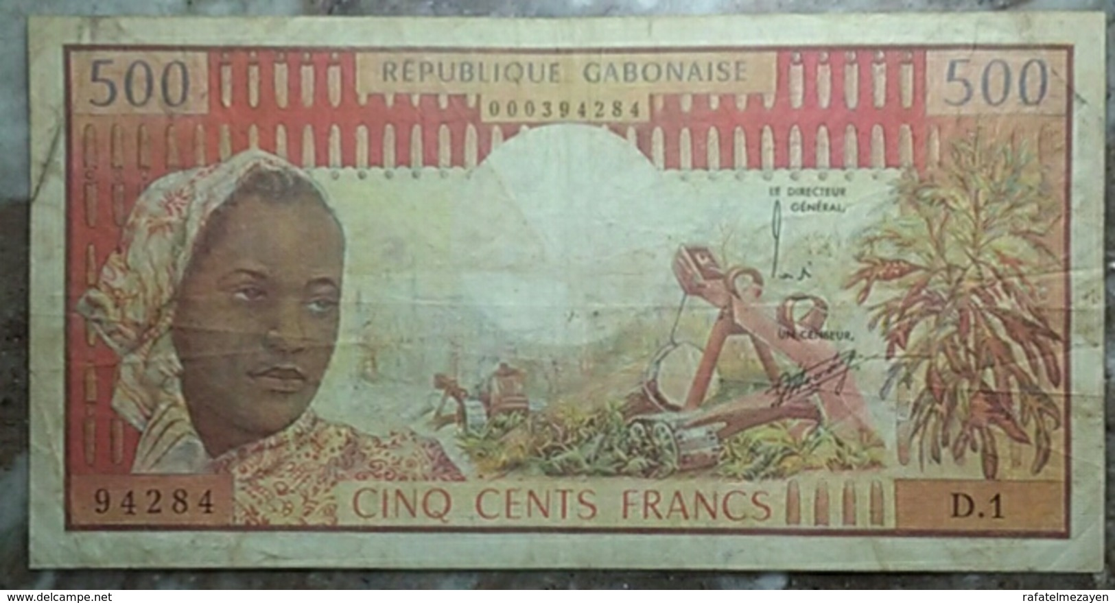 Gabon 500 Francs 1974 - Gabon
