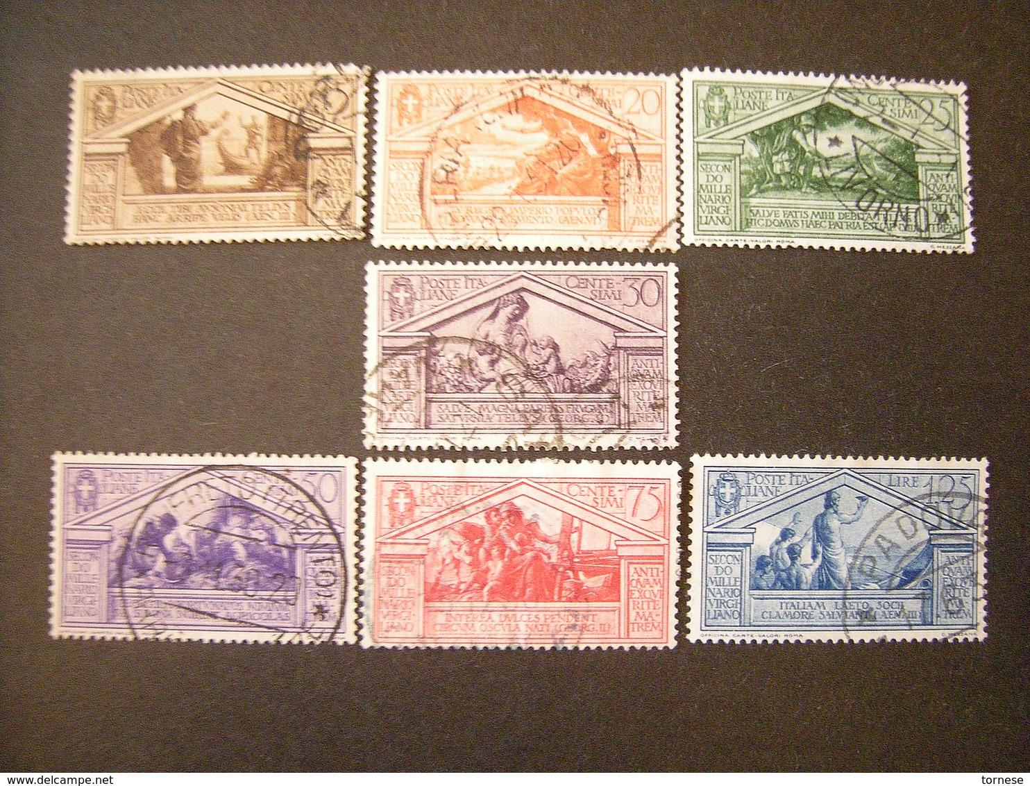 1930 -  VIRGILIO Lotto Di 7 Val. Usati, TTB,  OCCASIONE - Usati