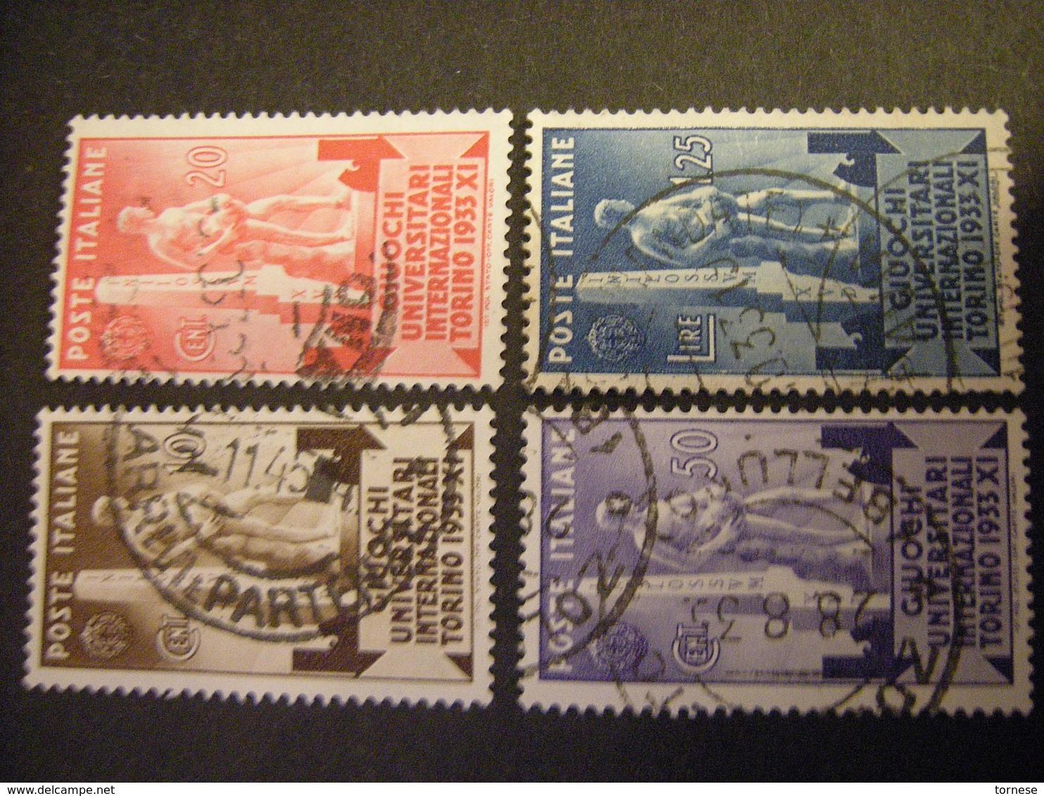 REGNO - 1933 - Giochi Universitari, Serie Completa, Usati, TTB,  OCCASIONE - 1900-44 Vittorio Emanuele III