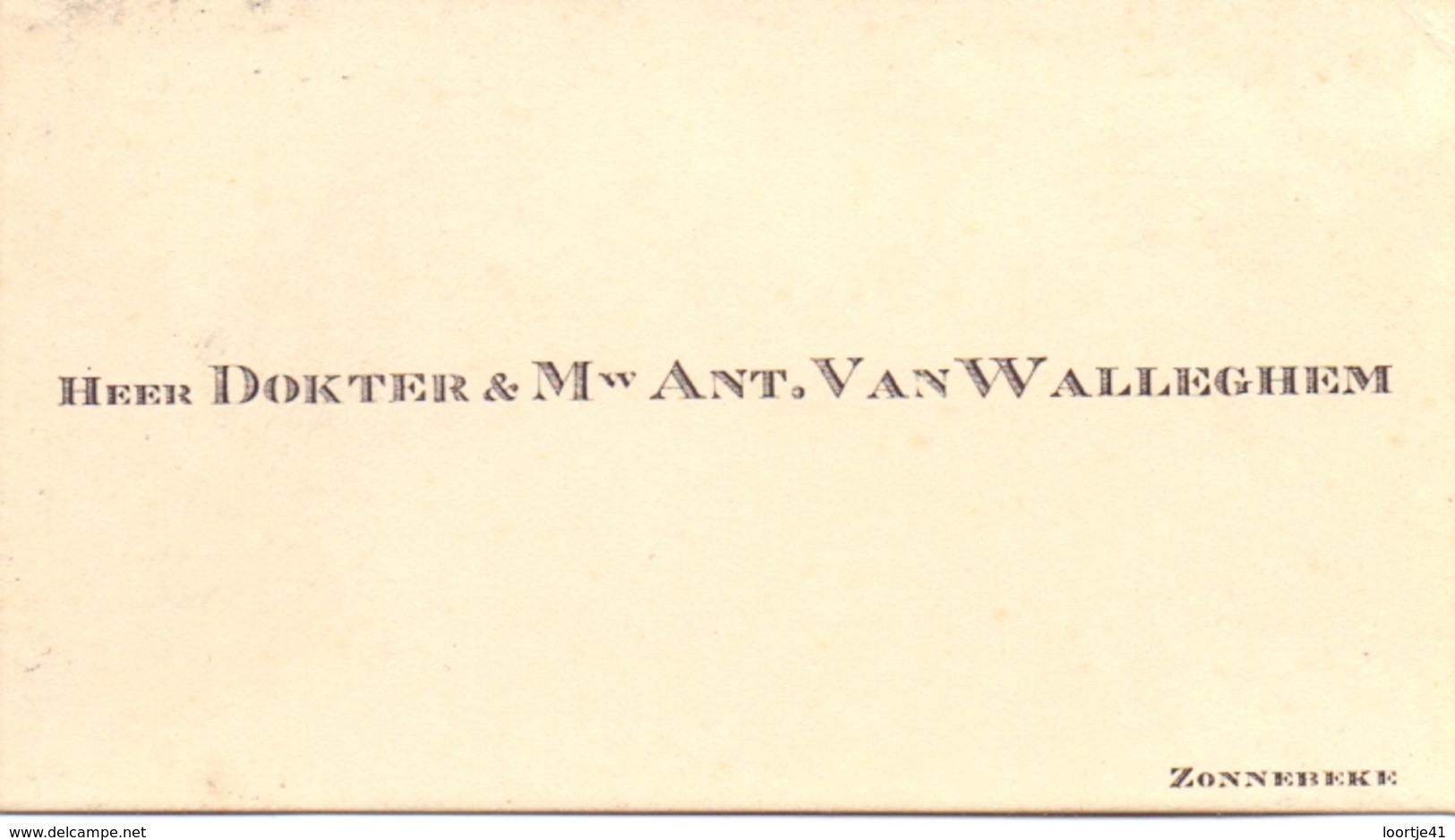 Visitekaartje - Carte Visite - Dokter Ant. Van Walleghem - Zonnebeke - Cartes De Visite