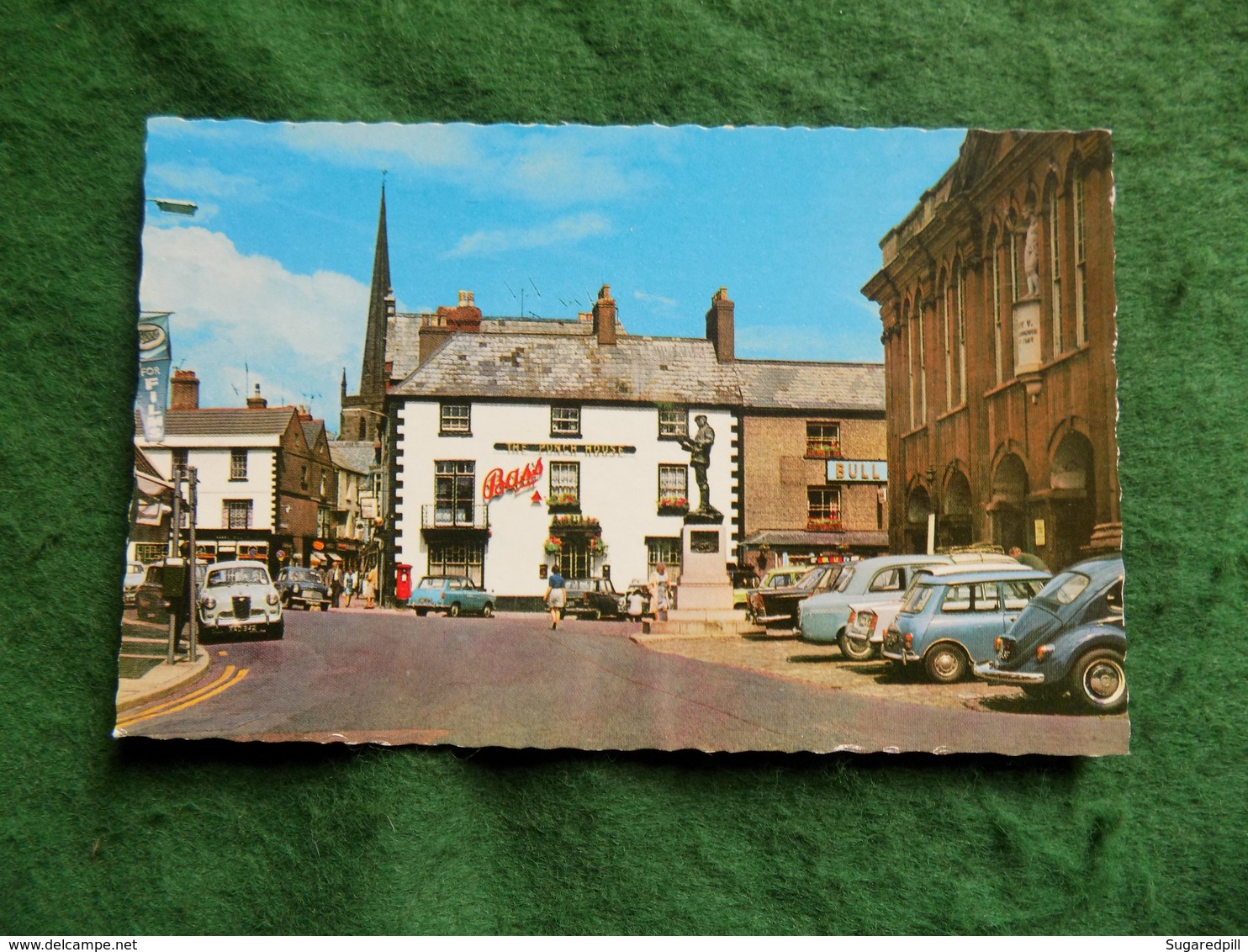 UK WALES: Monmouth Agincourt Square Cars Colour Constance - Monmouthshire
