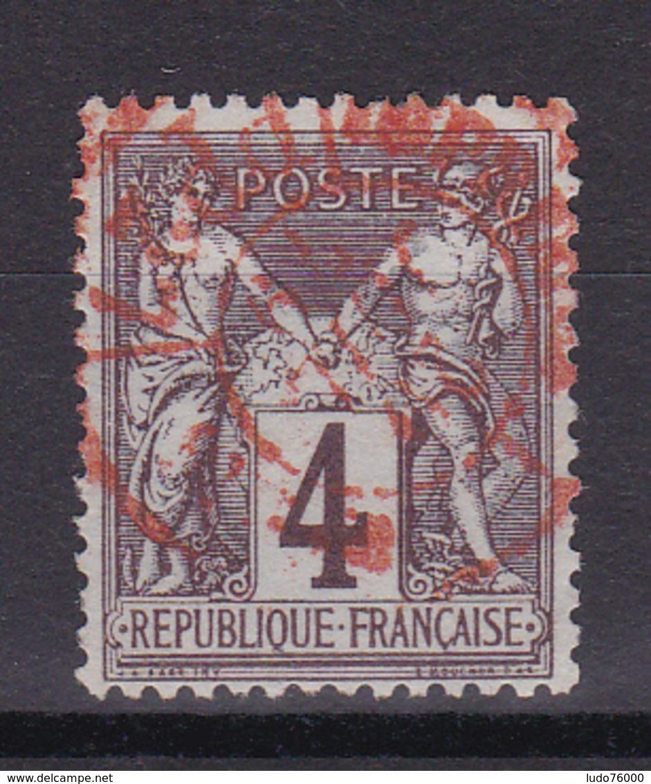 D335/ SAGE N° 88 OBL /  CACHET ROUGE - 1876-1898 Sage (Type II)