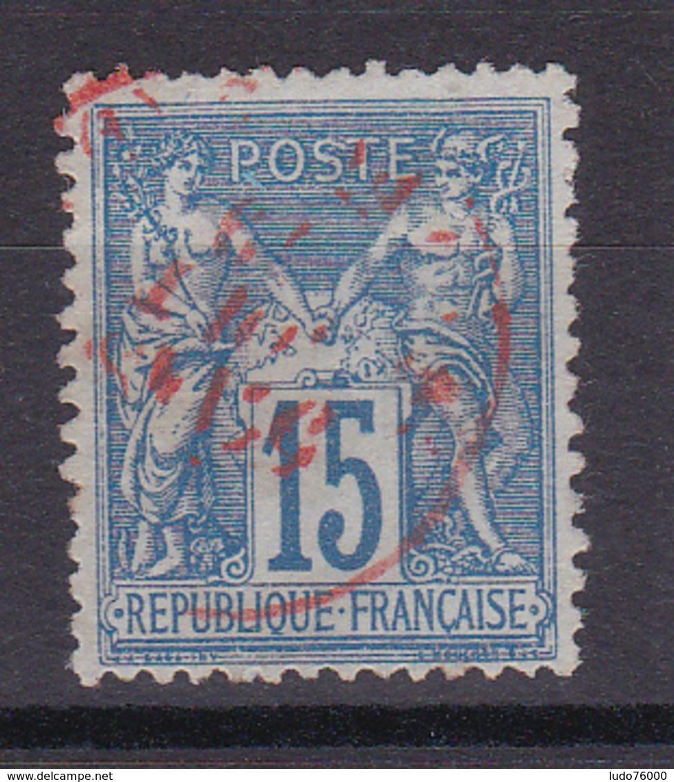 D335/ SAGE N° 90 OBL /  CACHET ROUGE - 1876-1898 Sage (Type II)