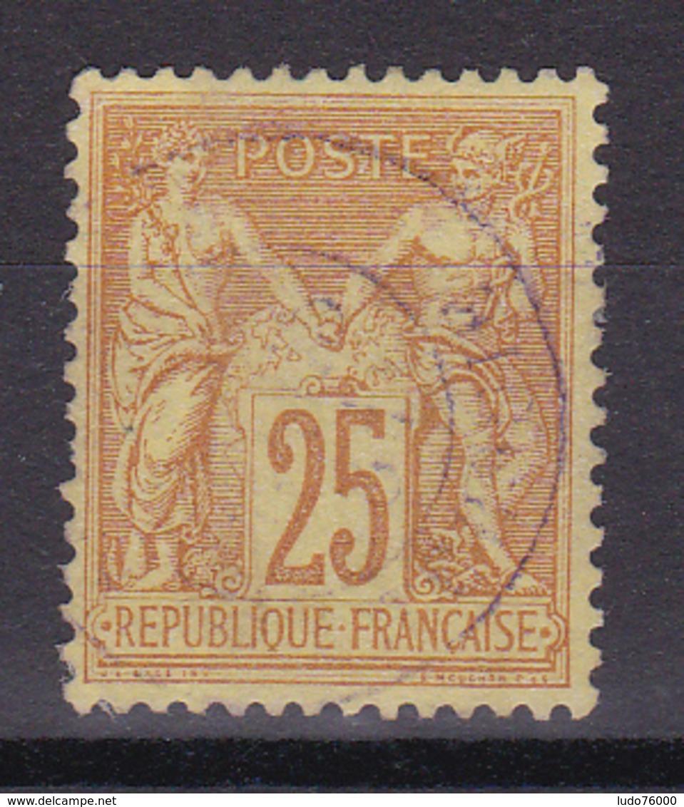 D336/ SAGE N° 92 OBL  / CACHET ROUGE - 1876-1898 Sage (Type II)
