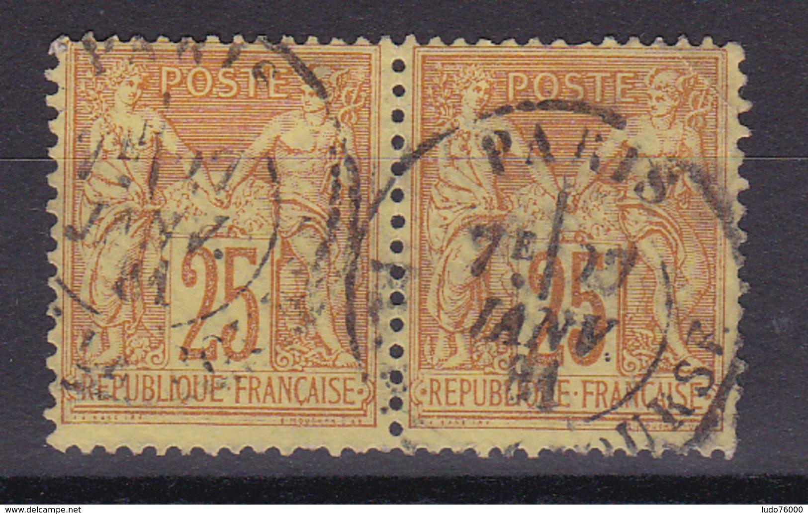 D336/ SAGE N° 92 OBL COTE 12€  / PAIRE - 1876-1898 Sage (Type II)