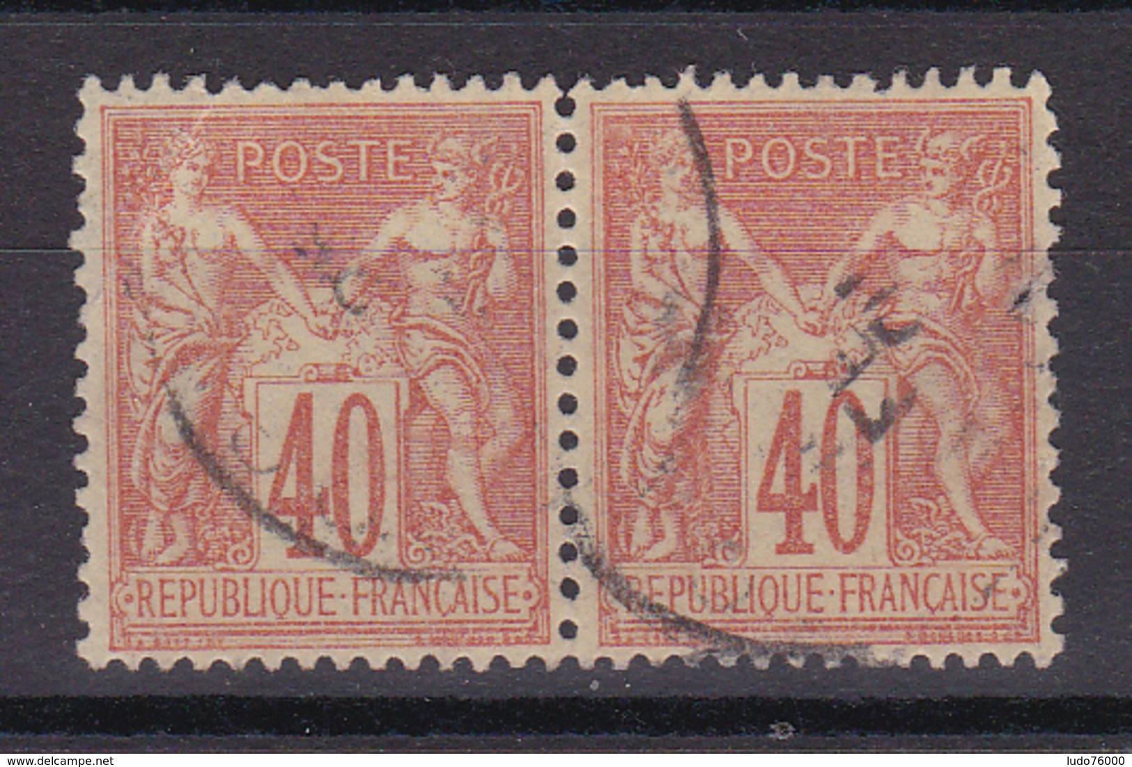 D336/ SAGE N° 94 OBL COTE 8€ / PAIRE - 1876-1898 Sage (Type II)