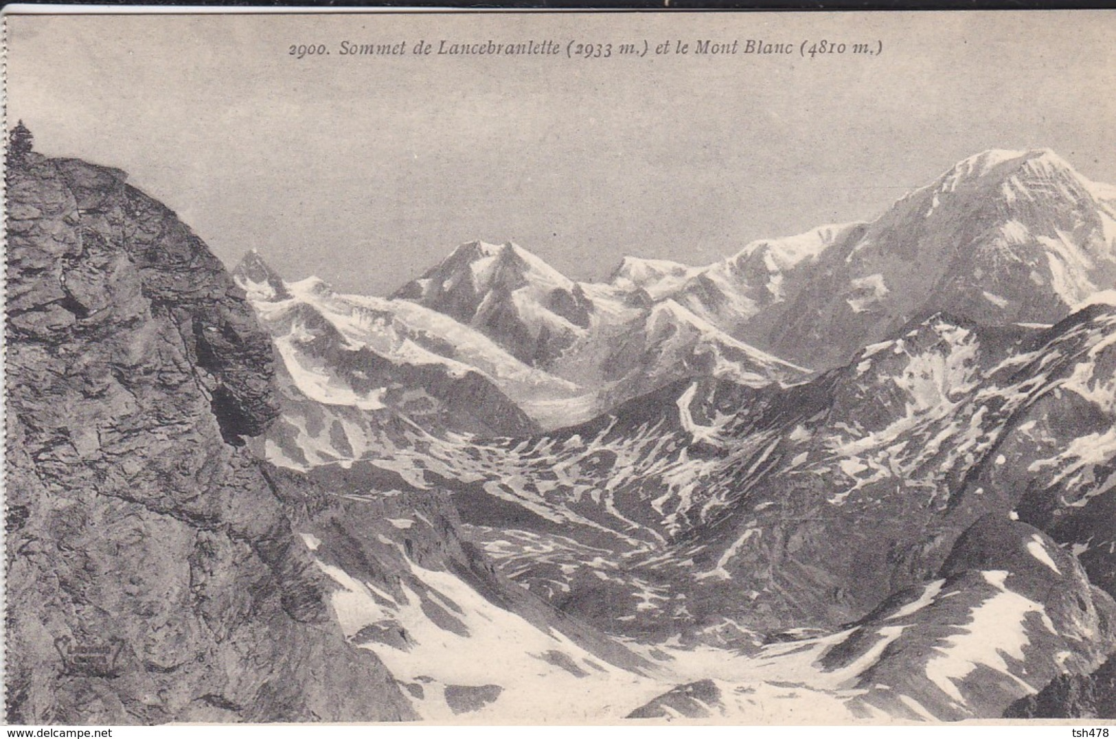 74---Sommet De Lancebranlette ( 2933 M ) Et Le Mont Blanc ( 4810 M )--voir 2 Scans - Chamonix-Mont-Blanc