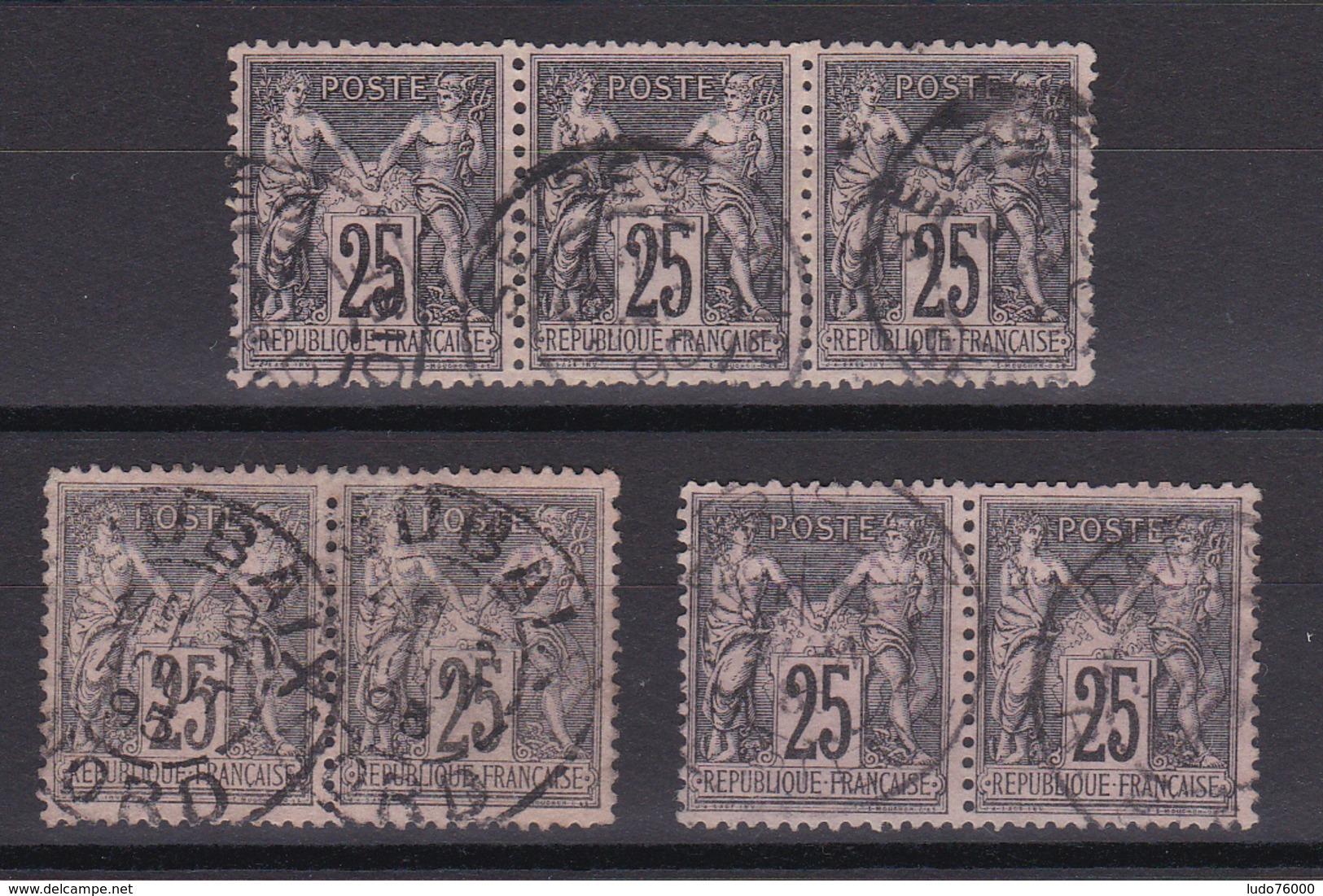 D336/ SAGE N° 97 OBL / PAIRE ET BANDE - 1876-1898 Sage (Type II)