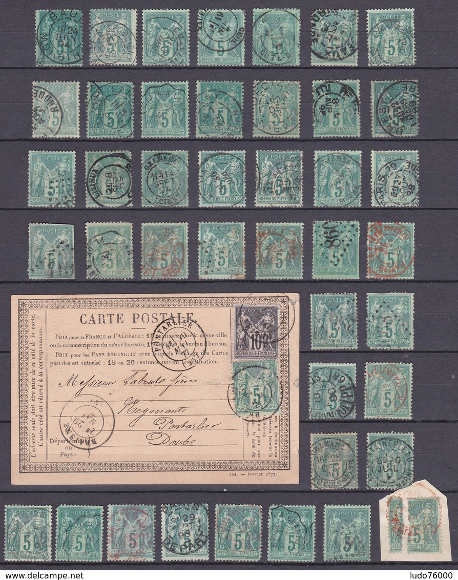 D336/ SAGE LOT N° 75 OBL - 1876-1898 Sage (Type II)