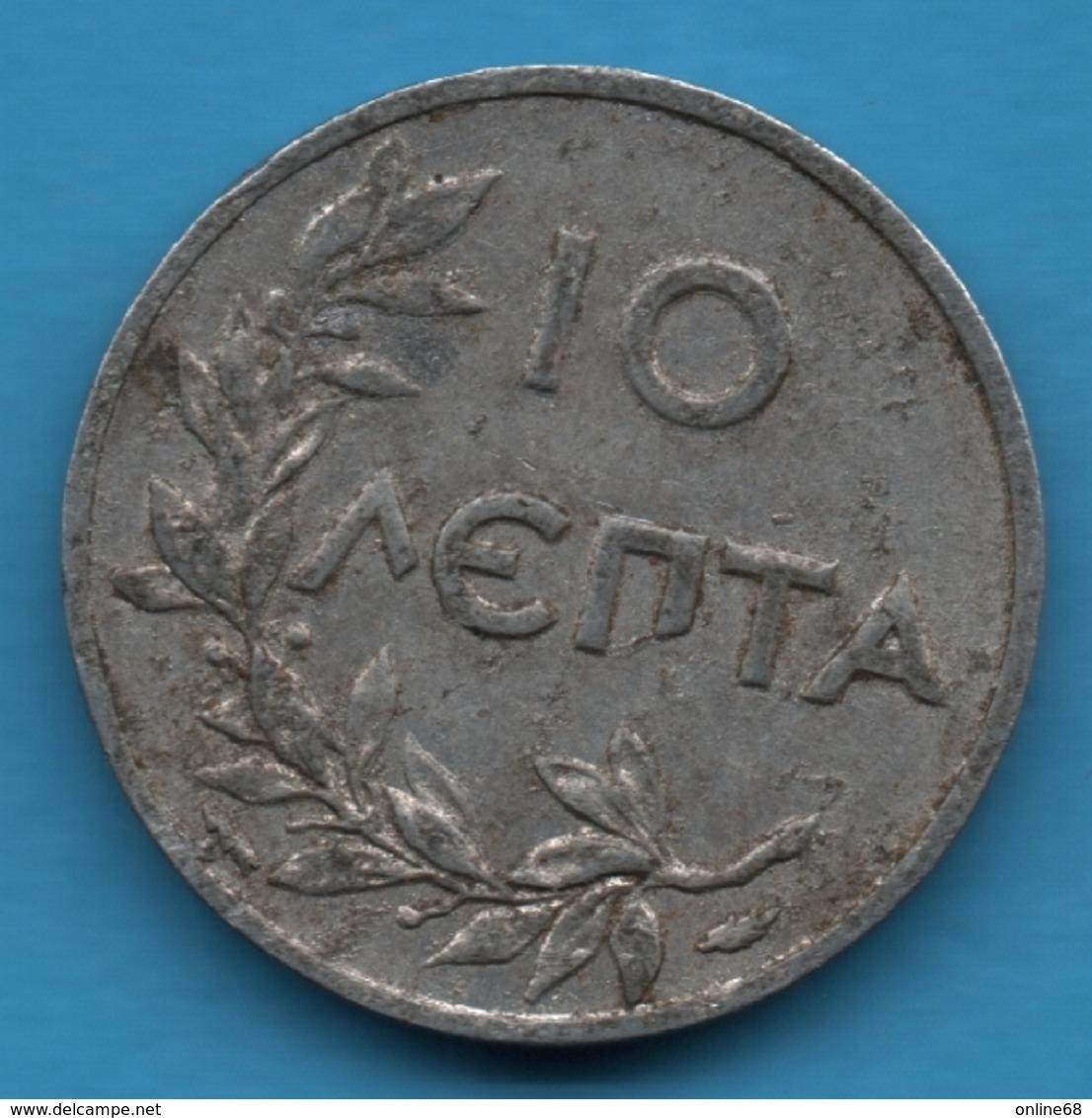GREECE 10 LEPTA 1922 KM#66.1 - Grèce
