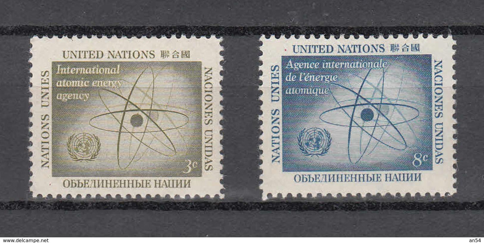 NATIONS  UNIES  NEW-YORK  1958   N° 56 - 57      NEUFS**   CATALOGUE YVERT&TELLIER - New York -  VN Hauptquartier