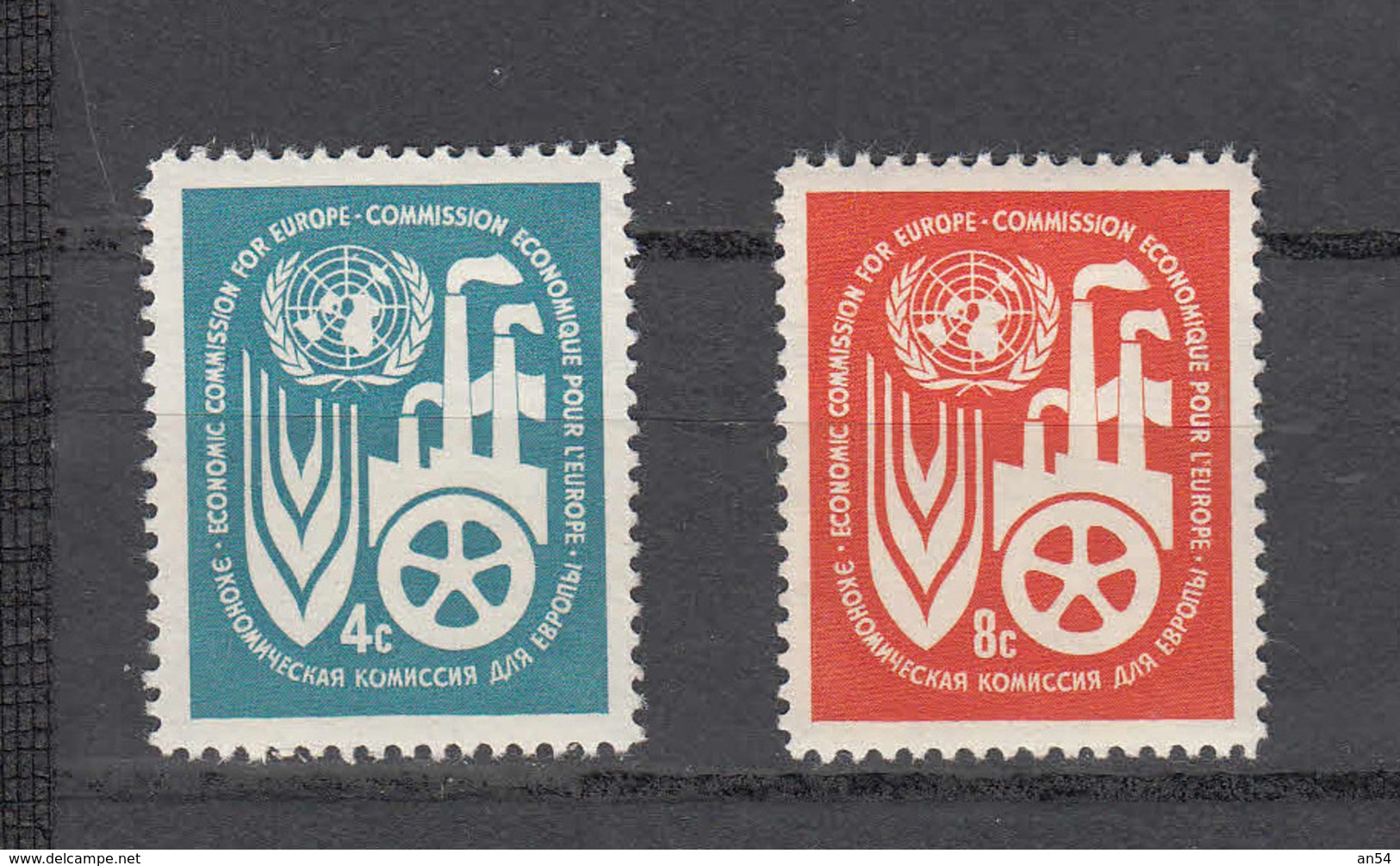 NATIONS  UNIES  NEW-YORK  1959   N° 68 - 69    NEUFS**   CATALOGUE YVERT&TELLIER - New York -  VN Hauptquartier