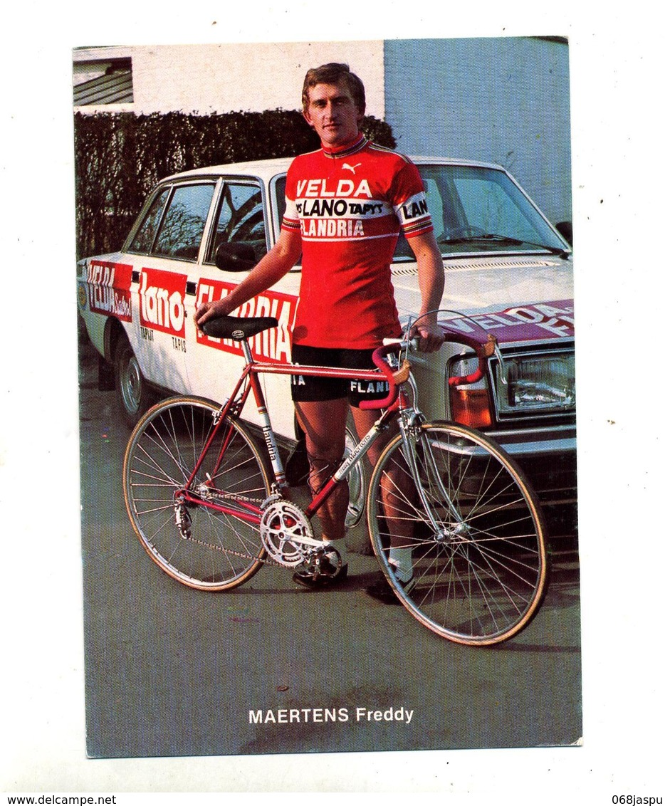 Image Carton Cyclisme Maertens Freddy Voiture - Cyclisme