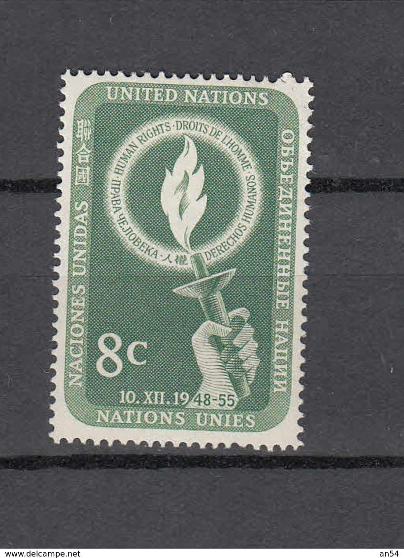 NATIONS  UNIES  NEW-YORK  1955   N° 39    NEUF**   CATALOGUE YVERT&TELLIER - New York -  VN Hauptquartier