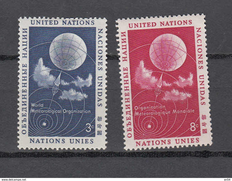 NATIONS  UNIES  NEW-YORK  1957   N° 48 - 49    NEUFS**   CATALOGUE YVERT&TELLIER - New York -  VN Hauptquartier