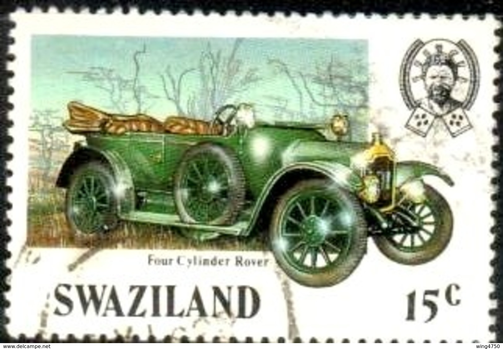 Classic Automobile, Four-cylinder Rover, Swaziland Stamp SC#482 Used - Swaziland (1968-...)