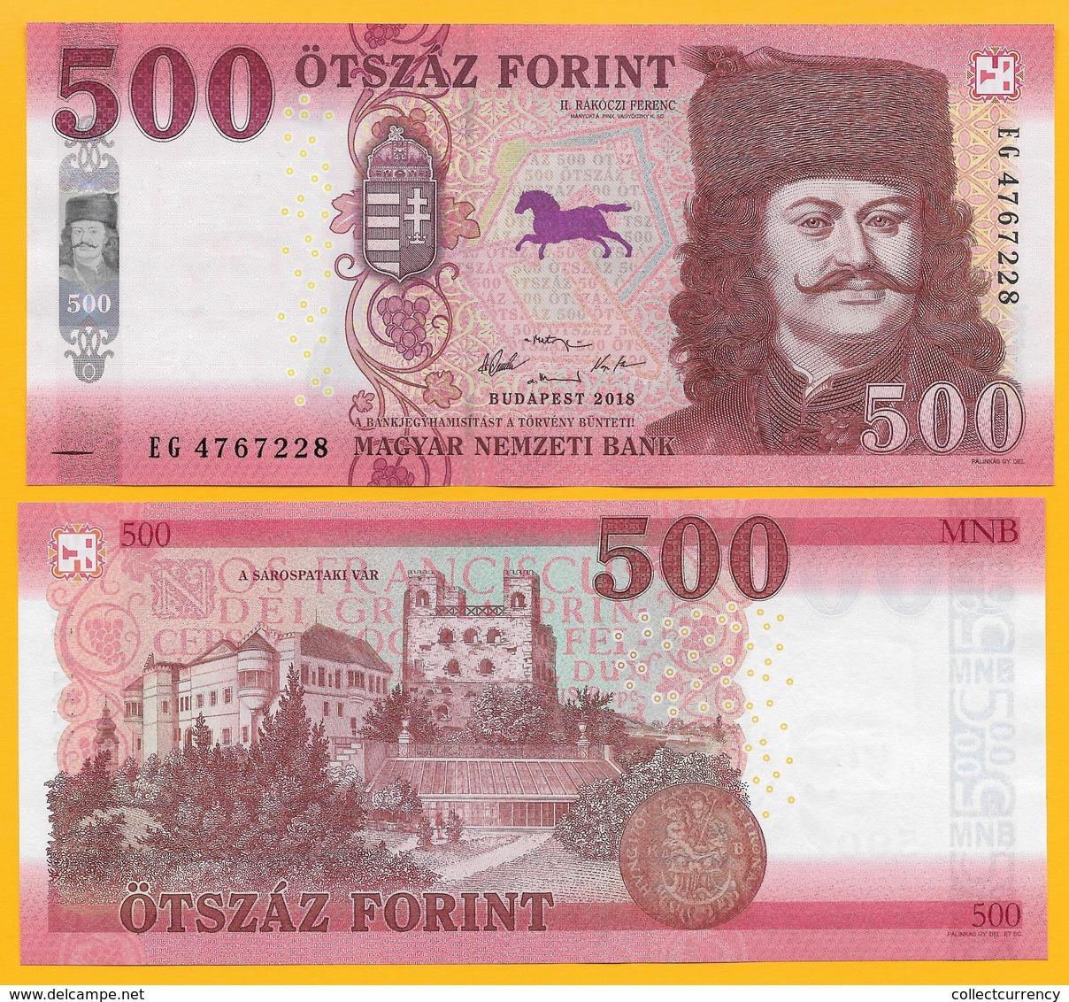 Hungary 500 Forint P-new 2018(2019) UNC - Ungheria