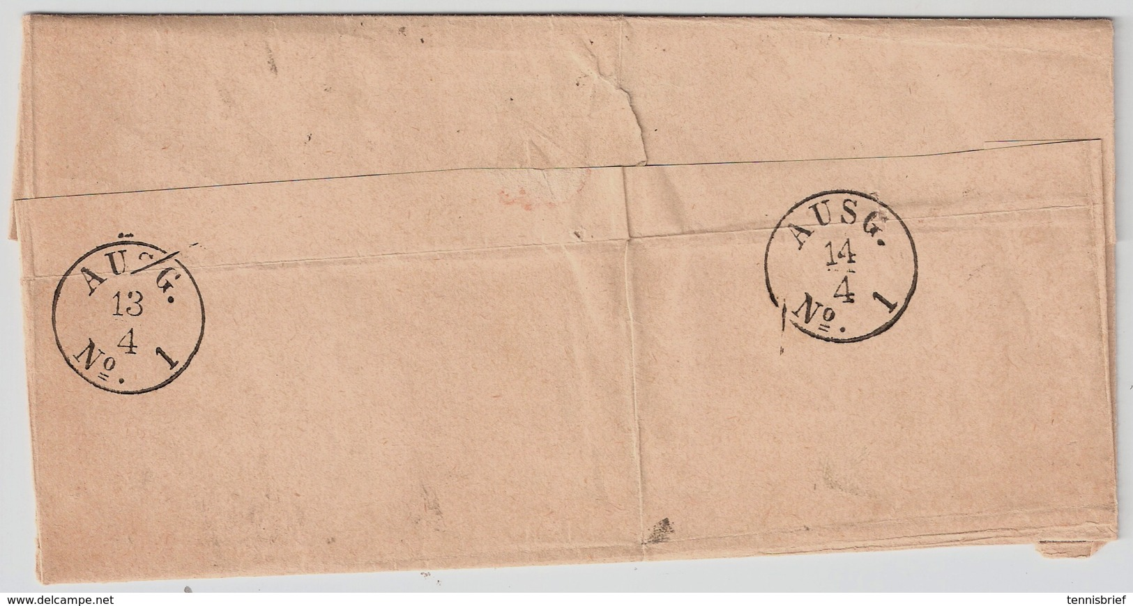 1873, 3 Mal Nr. 2,schöner Brief ! Mi. 300.-    , #a1927 - Briefe U. Dokumente