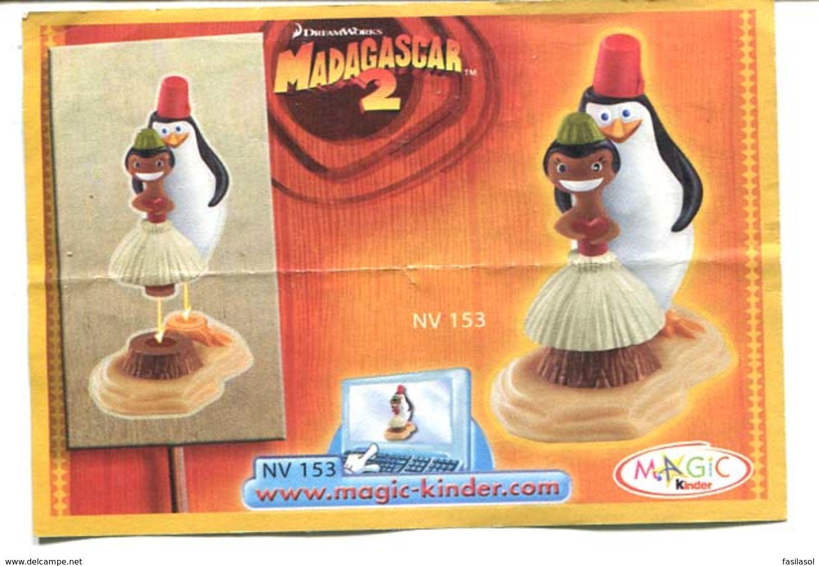 Kinder 2009 : Série Complète : Madagascar 2 (9 Figurines Avec 1 BPZ ) - Cartoons