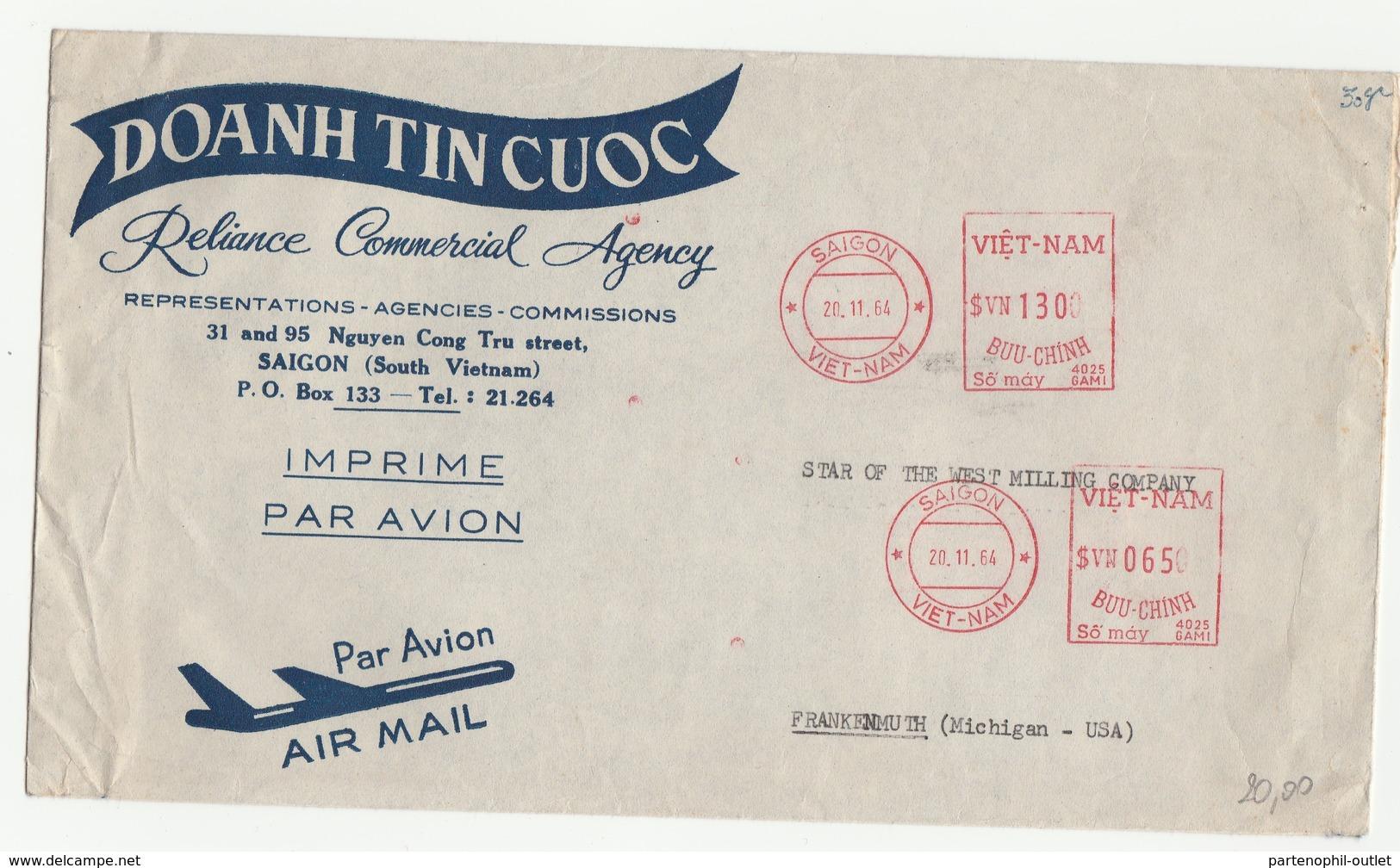Lettera Inviata Negli Stati Uniti Via Air Mail - Priva Di Timbro Di Arrivo - Viêt-Nam