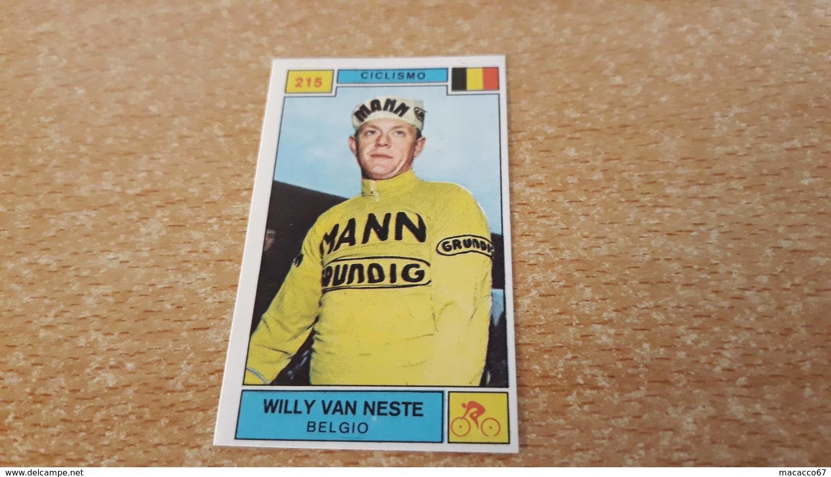 Figurina Panini Campioni Dello Sport 1969 - 215 Willy Van Neste - Panini