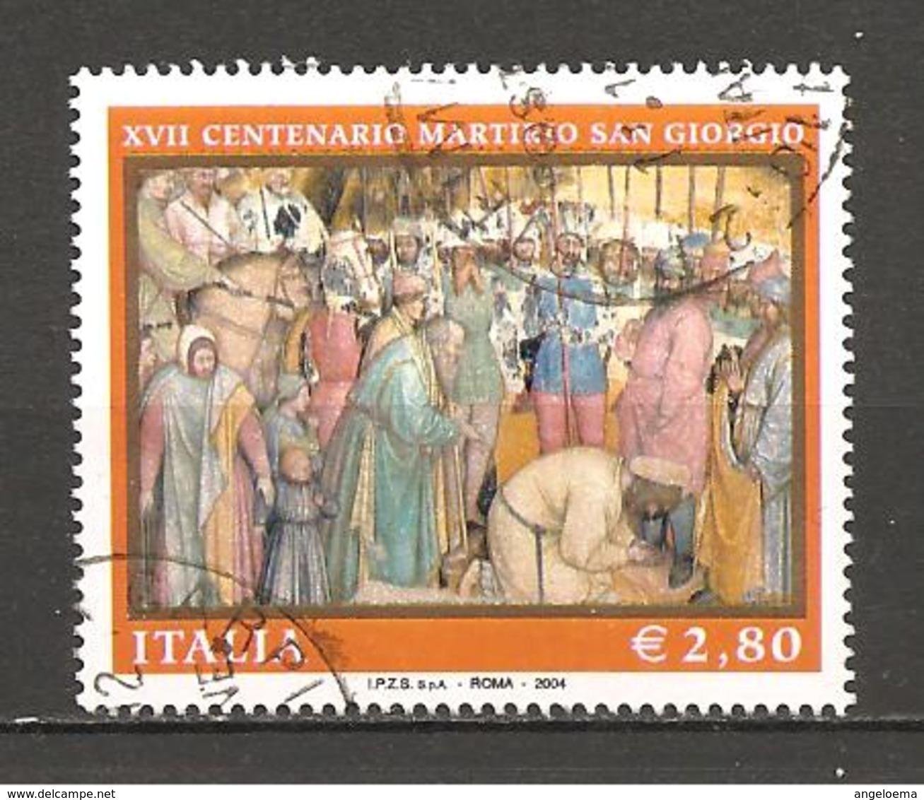 ITALIA - 2004 XVII Cent. Martirio Di S.GIORGIO (ALTICHIERO DA ZEVIO, Oratorio Di S.Giorgio, Padova) Usato - Religione