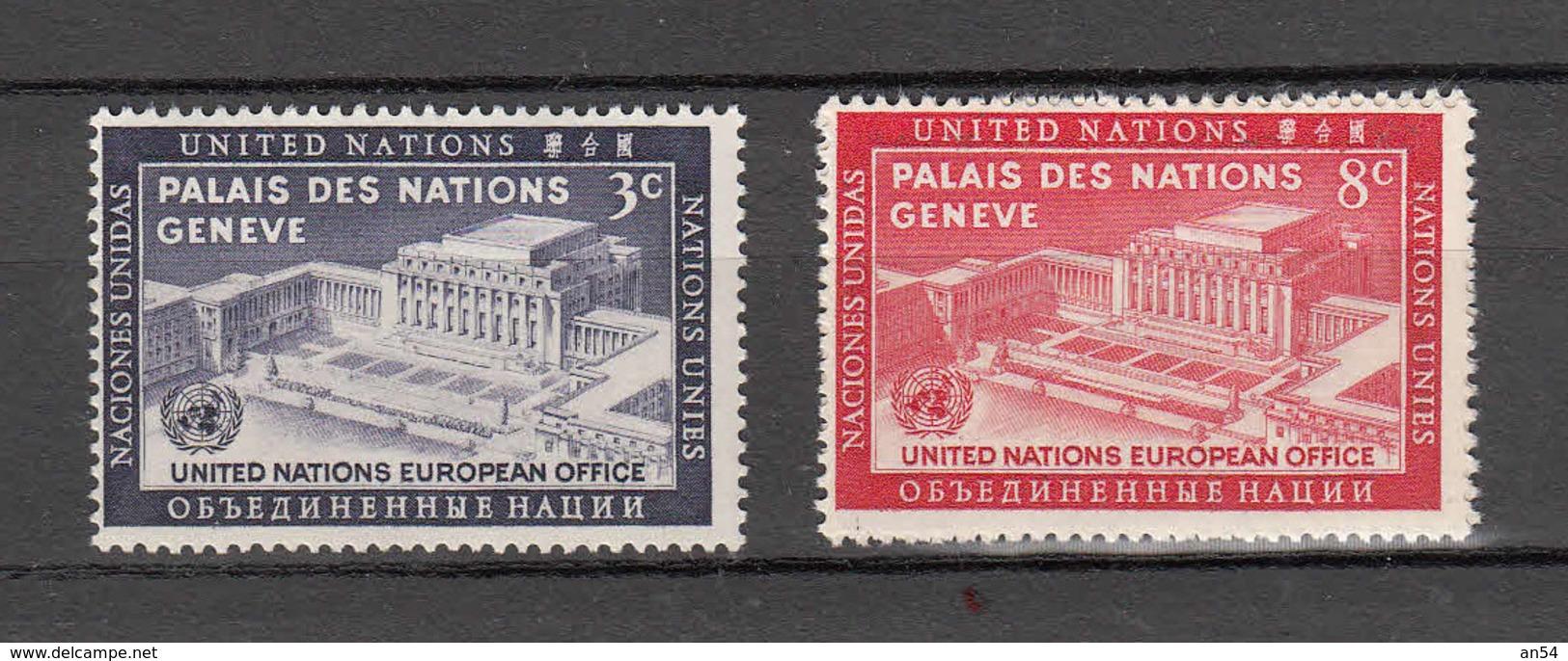 NATIONS  UNIES  NEW-YORK  1954  N° 25 - 26     NEUFS**   CATALOGUE YVERT&TELLIER - New York -  VN Hauptquartier