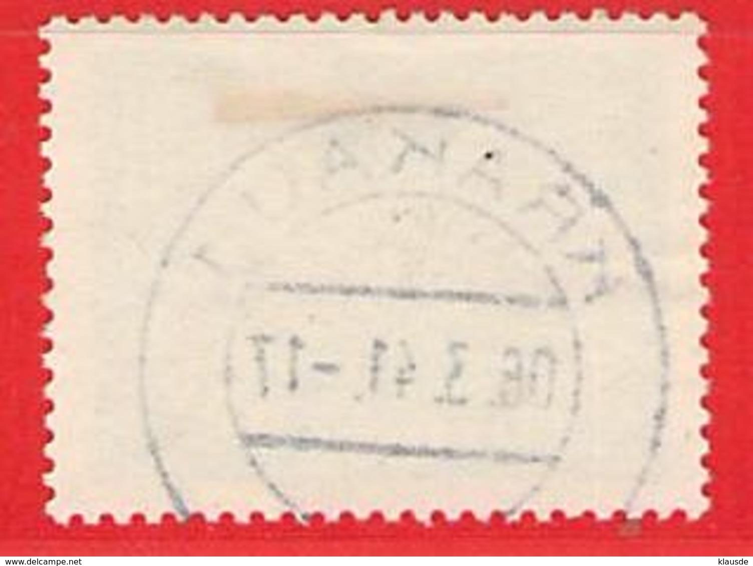 MiNr.1 O Deutschland Besetzungsausgaben II. Weltkrieg Generalgouvernement ,Dienstmarken - Besetzungen 1938-45