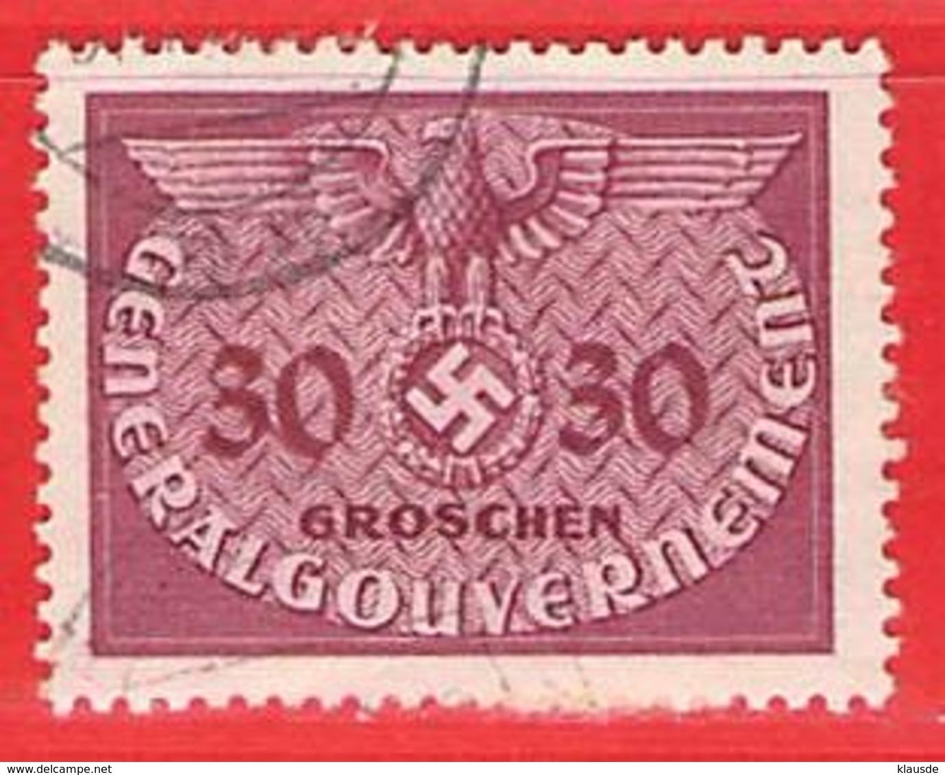 MiNr.7 O Deutschland Besetzungsausgaben II. Weltkrieg Generalgouvernement ,Dienstmarken - Besetzungen 1938-45