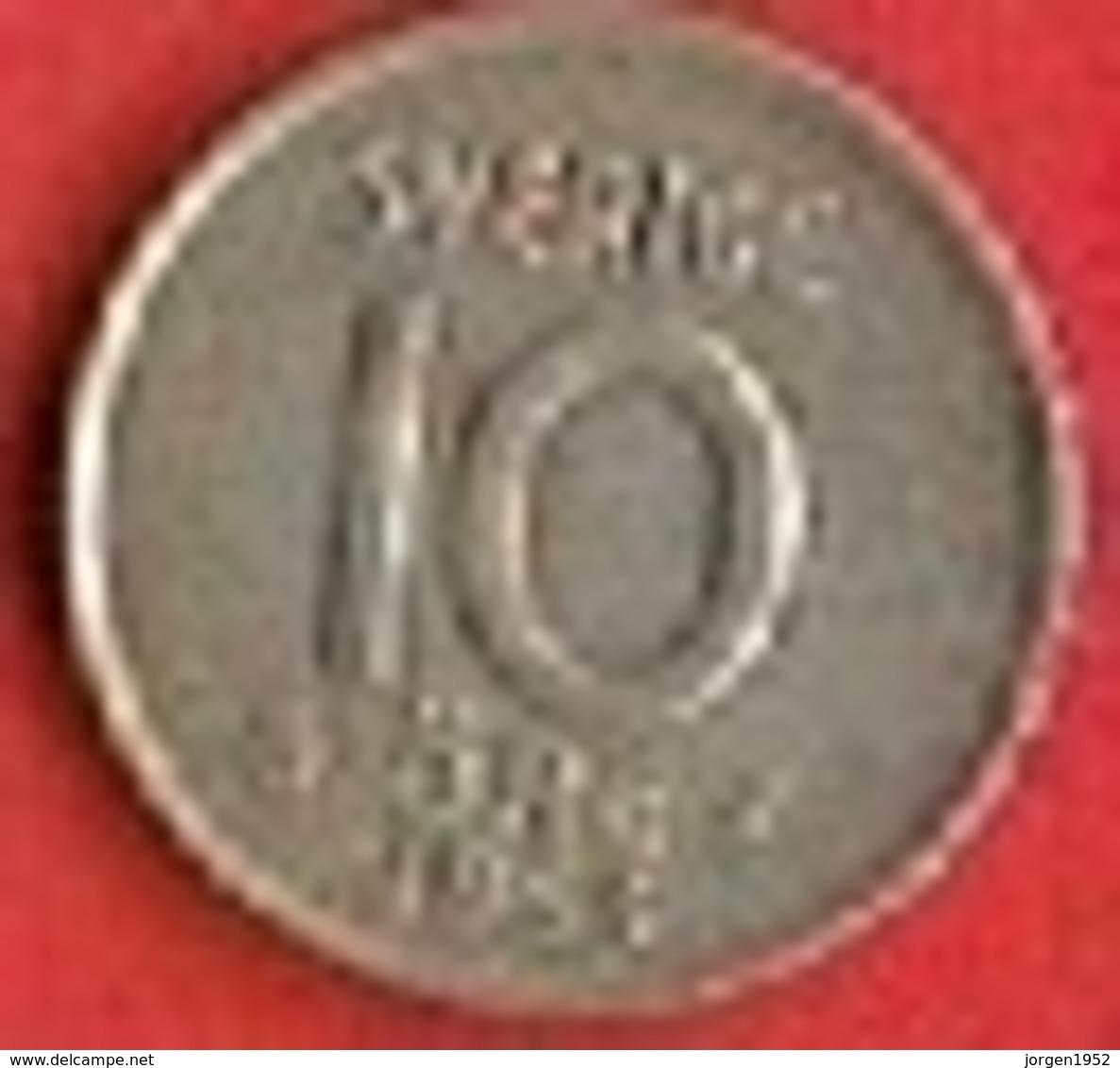 SWEDEN # 10 ØRE  FRA 1953 - Suède