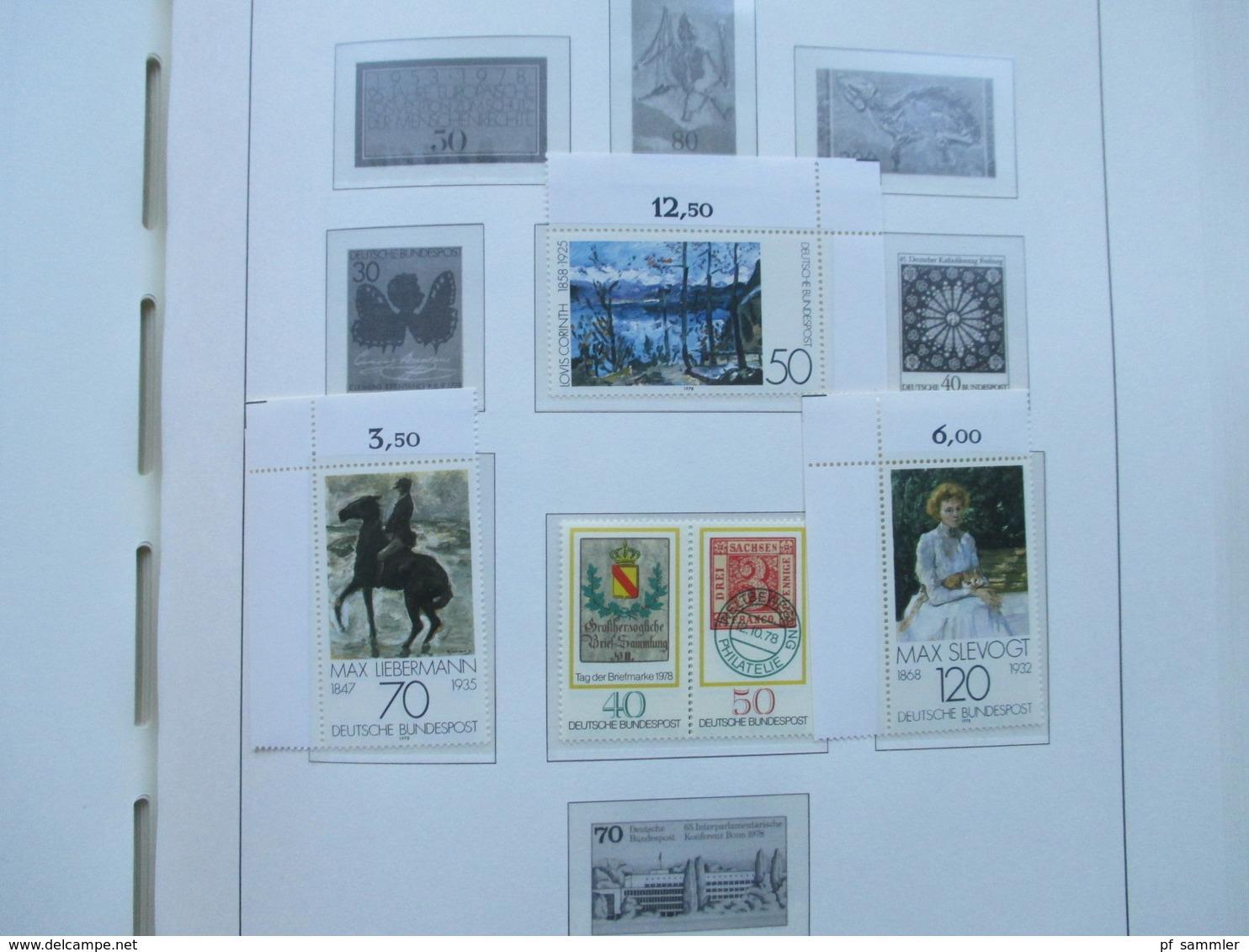 BRD Slg. In 2 Leuchtturm VD Alben Vordrucke 1949 - 2001 Anfangs Gestempelt, Ab Ende 60er Jahre - 2000 Fast Komplett ** - Timbres