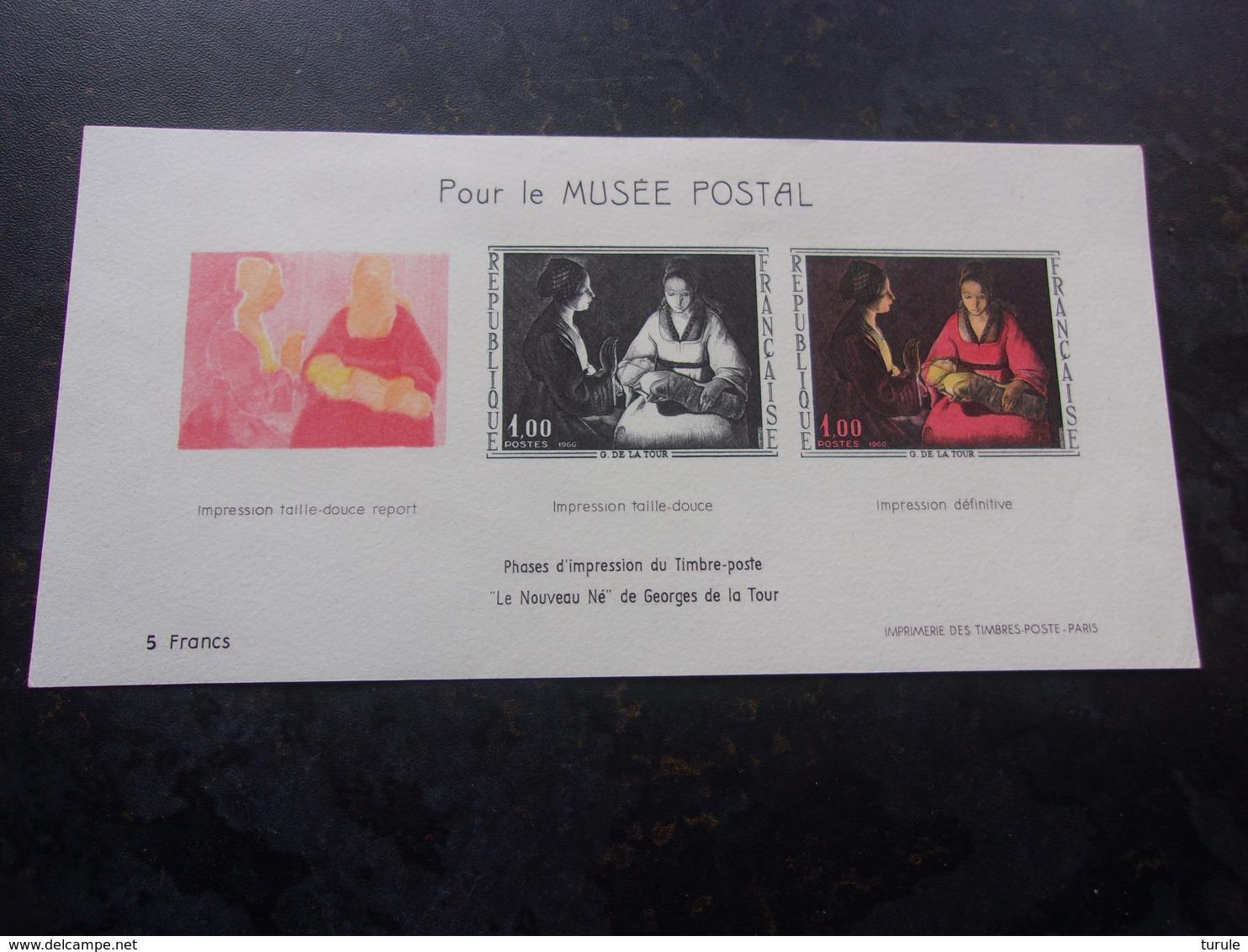 FRANCE (1966) Pour Le Musée Postal - Blocs & Feuillets