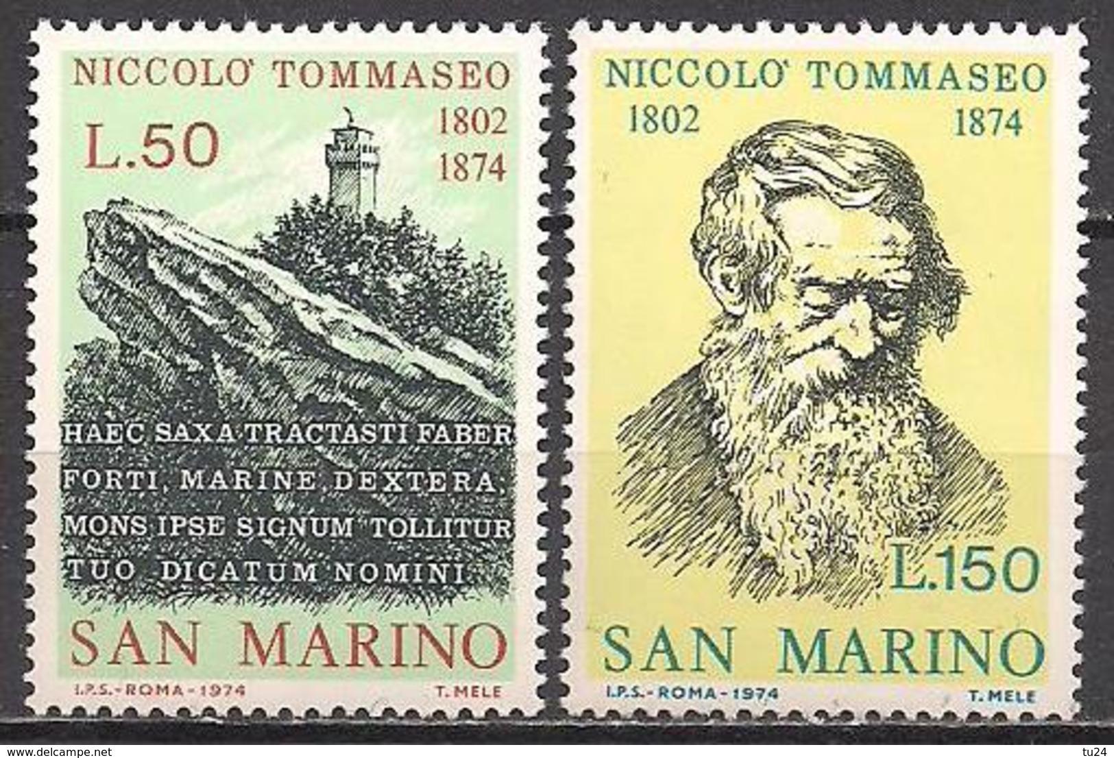 San Marino  (1974)  Mi.Nr.  1080 + 1081  ** / Mnh  (2af06) - Ungebraucht